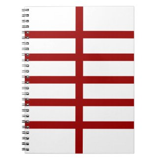 5 Bisected Red Lines Notebook
