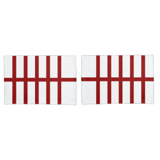 5 Bisected Red Lines Pillow Case