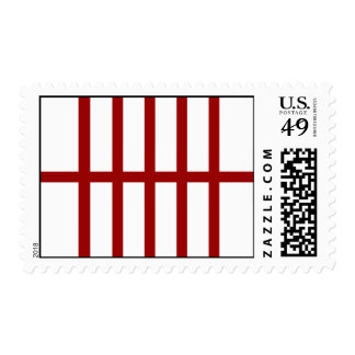5 Bisected Red Lines Postage