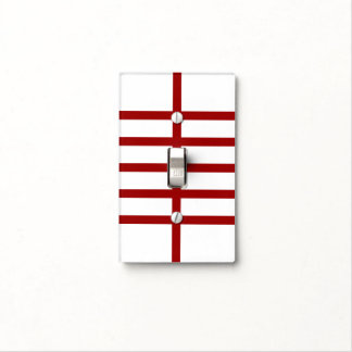 5 Bisected Red Lines Switch Plate Covers