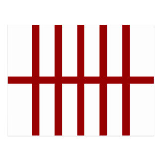 5 Bisected Red Stripes Postcard