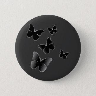 5 Black Butterflies Button