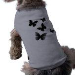5 Black Butterflies Doggie Tshirt