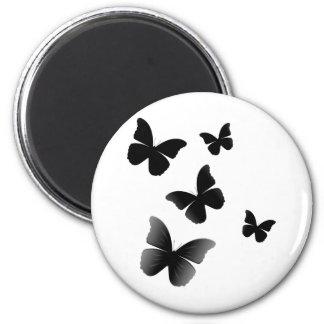 5 Black Butterflies Magnet