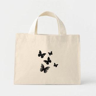 5 Black Butterflies Mini Tote Bag