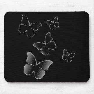 5 Black Butterflies Mouse Pad