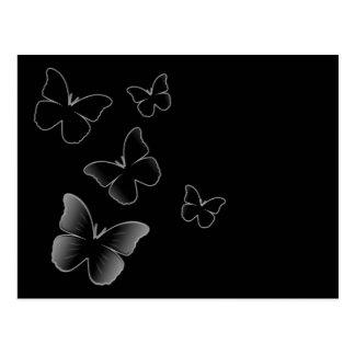 5 Black Butterflies Postcard