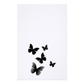 5 Black Butterflies Stationery