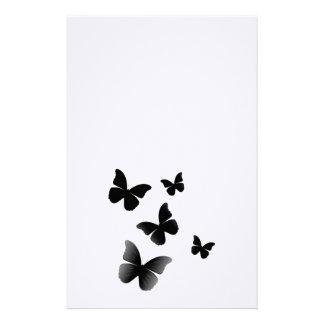 5 Black Butterflies Stationery