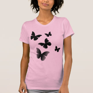 5 Black Butterflies T Shirt