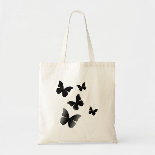 5 Black Butterflies Tote Bags