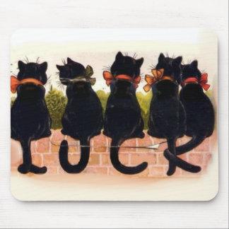 5 Black Cats Vintage Mouse Mat