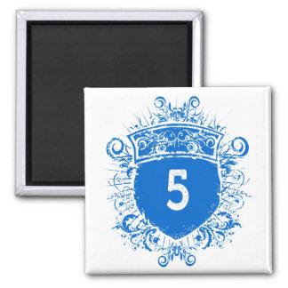 #5 Blue Shield Magnet