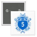 #5 Blue Shield Pins