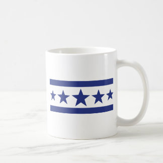 5 blue stars coffee mug