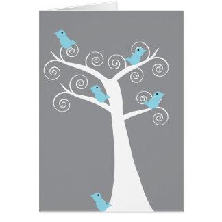 5 Bluebirds in a Tree Card