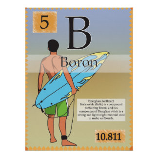 5.Boron (B) Periodic Table of the Elements Poster