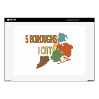 5 Boroughs City Skin For Laptop