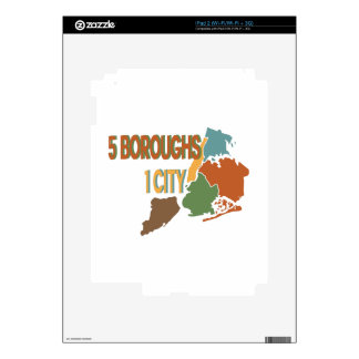 5 Boroughs City Skin For The iPad 2