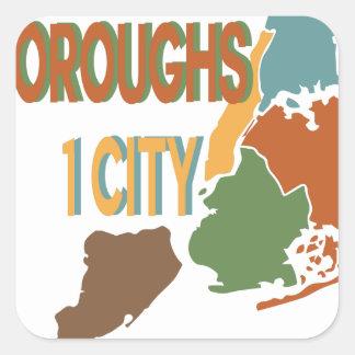 5 Boroughs City Square Sticker