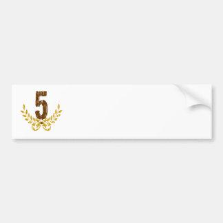 #5 Brown & Gold Wreath Bumper Sticker