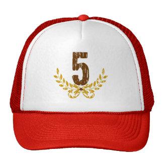 #5 Brown & Gold Wreath Trucker Hat