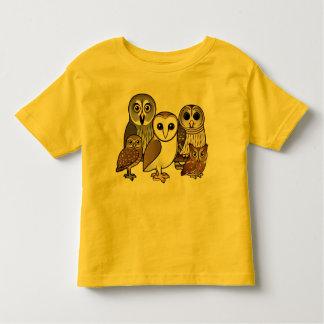 5 búhos de Birdorable Playera