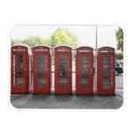 5 cabinas de teléfonos en Londres Imanes Flexibles