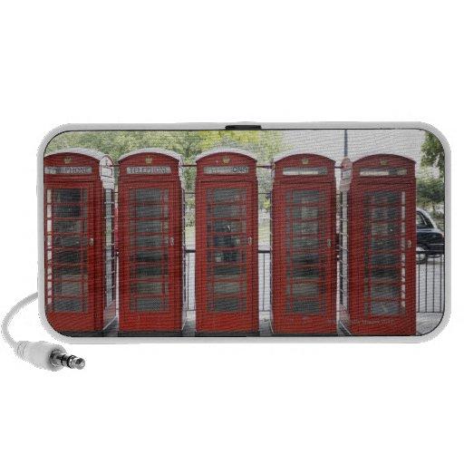 5 cabinas de teléfonos en Londres Laptop Altavoces