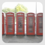 5 cabinas de teléfonos en Londres Colcomanias Cuadradass