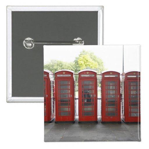 5 cabinas de teléfonos en Londres Pin Cuadrado