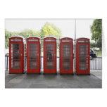 5 cabinas de teléfonos en Londres Tarjeta De Felicitación