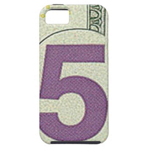 5 caso del iPhone 5 del billete de dólar iPhone 5 Cobertura