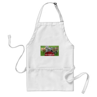 5 Cats Form a Basketball Team Adult Apron