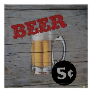 5 cent Beer Poster
