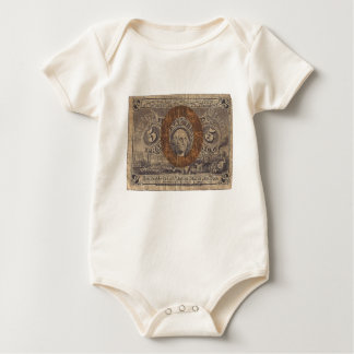 5-Cent Fractional Currency Baby Bodysuit