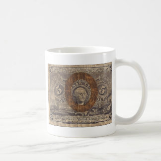 5-Cent Fractional Currency Coffee Mug