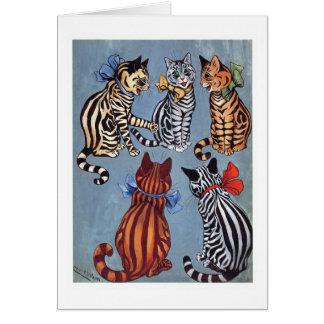 5 Charming Cats Louis Wain Greeting Card