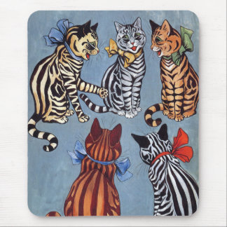 5 Charming Cats Louis Wain Mouse Pad