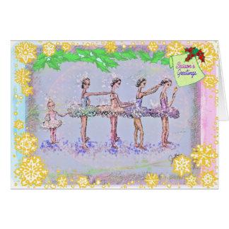5 chicas en un Row-Nutcracker-290 Felicitación