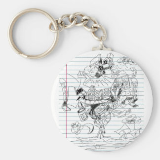 5 Clouds Pen Doodle Notebook Paper Sketch Keychains