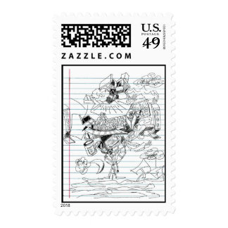 5 Clouds Pen Doodle Notebook Paper Sketch Stamp