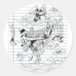 5 Clouds Pen Doodle Notebook Paper Sketch Stickers