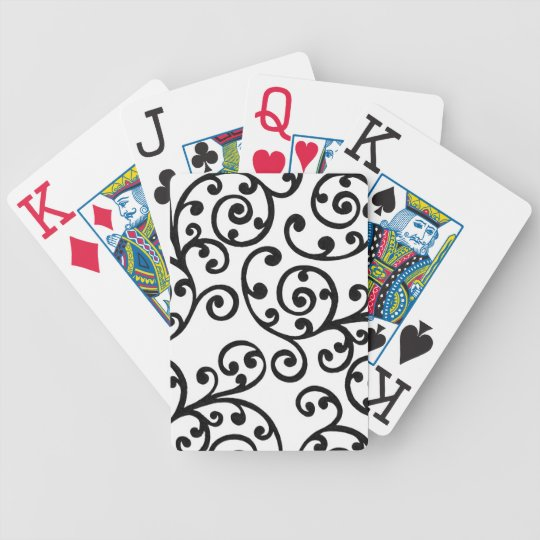 5 Color Choices Swirls Damask Bicycle Playing Cards