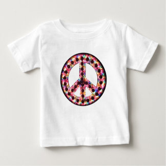 5-color peace baby tee