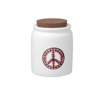 5-Color Peace Candy Jar