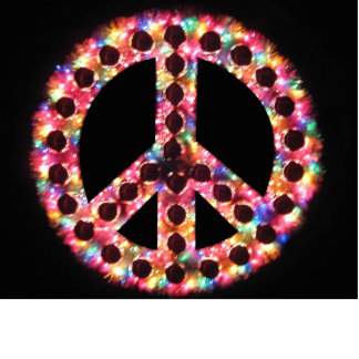 5-color peace photo sculpture