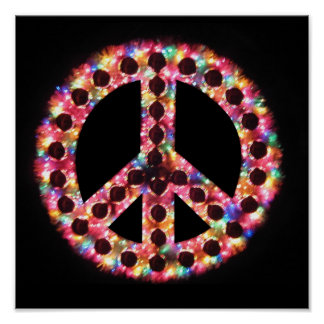 5-color peace sign poster