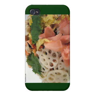 5 Color Sushi Plate Gifts Mugs Cards Etc iPhone 4/4S Case