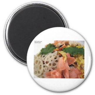 5 Color Sushi Plate Gifts Tees Mugs Cards Etc Fridge Magnets
